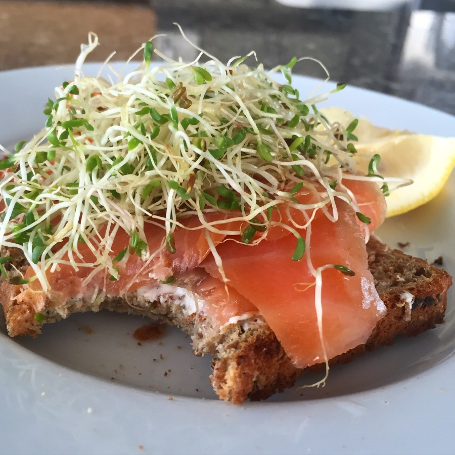 lox breakfast toast