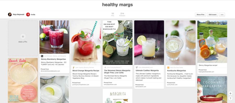healthy margaritas