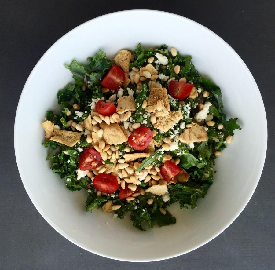 kale salad with lemon-tahini dressing | shaking thingsup