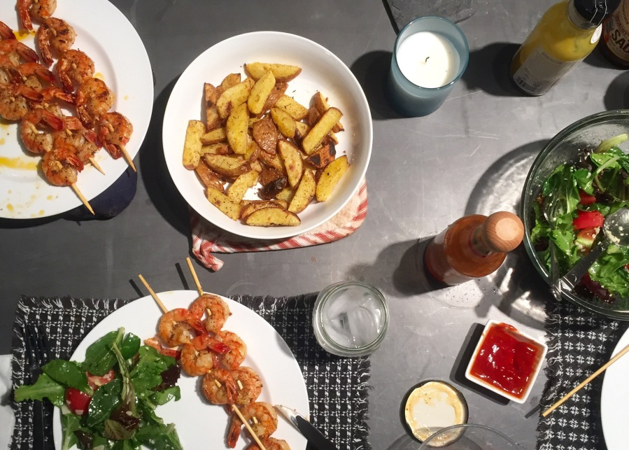 6-ingredient summery shrimp & potato dinner